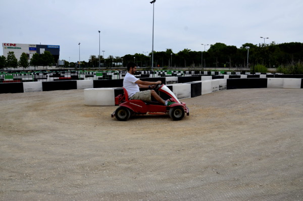 Fotos Salou, Pau en el Electric Karting Salou